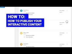 How to publish your interactive layered videos Storytelling, Content, Tools, Videos, Studios, Video Clip, Appliance