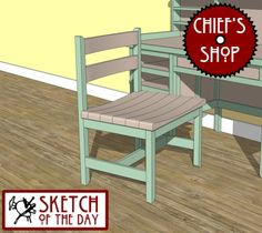 Sketch of the Day: Study Desk Chair