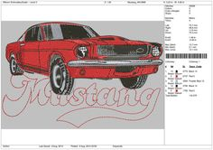 Car Design 1967 Fast Back    machine embroidery by OneSuperDesign, $13.50