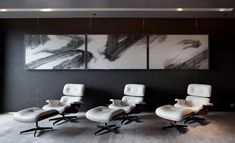 Relaxation lounge at Hotel Icon - Hong Kong Lobby Lounge, Harbor View, Local Architects, Contemporary Classic, Modern, Triptych, Architect Design, Ink Painting, Landscape Paintings