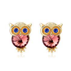 Crystal Owl Glamorous Earrings //Price: $14.85 & FREE Shipping //     #jewelry #jewels #jewel #socialenvy #PleaseForgiveMe #fashion #gems #gem #gemstone #bling #stones #stone #trendy #accessories #love #crystals #beautiful #ootd #style #fashionista #accessory #instajewelry #stylish #cute #jewelrygram #fashionjewelry