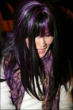 purple and black hair