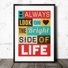 Personalised Inspirational Quote Word Art Poster