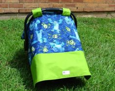 Custom monsters inc canopy cover car seat canopy monsters monsters u ...
