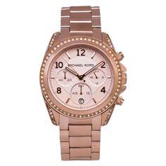 Michael Kors Ladies' Blair Chronograph Watch In Rose Gold