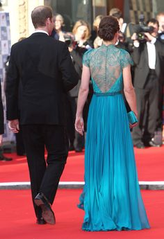 The back of Kate Middleton's dress was beautiful / WENN