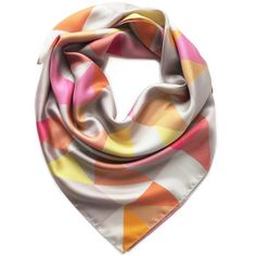 Albecq Silk Square Scarf, £61, now featured on Fab.