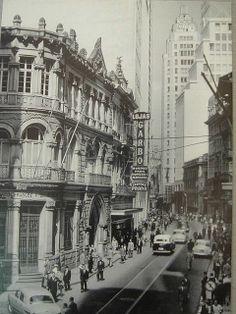 Década de 50 - Lojas Garbo na rua 15 de Novembro.