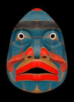 disaberger: Bella Coola Komokwa Mask Kwaguilth, Native American (via Arte Inuit, Arte Haida, Native American Masks, Art Tribal, Cool Masks, Wessel, Art Premier, Masks Art, African Masks