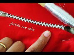 راندة الزيكزاك ملاقية سهلة مع ام ادم - YouTube Embroidery Stitches Tutorial, Hand Embroidery Designs, Needlework, Projects To Try, Homemade, Crochet, Designers, Tunic, Embroidery Stitches