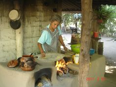 Mexican Woman in  outdoor kitchen in the mountains near Puerto Vallarta, Mexico - 2011.  (The Tacos were YUMMY!)