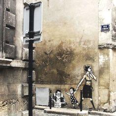 Art street in Rome.