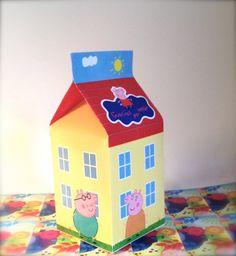 Peppa Pig inspired Printable Favor box by SandiaDesignShop on Etsy