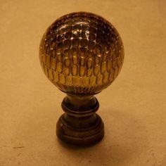 Boule d'escalier, vase de rampe en laiton. Epoque 19ème siècle ...