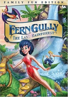 FernGully: The Last Rainforest. Directed by Bill Kroyer.  With Samantha Mathis, Christian Slater, Robin Williams, Tim Curry. The magical inhabitants of a rain-forest fight to save their home, which is threatened by logging and a polluting force of destruction called Hexxus.