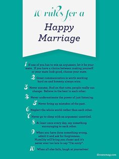 10 commandments of marriage ~ You gotta laugh at yourself!