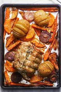 An impressive Sheet Pan Honey Mustard Pork Loin and Vegetables, yet effortless to make and easy on your wallet!
