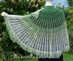 Crochet Patterns Galore - Semi-Circular Shawl with Pineapple Border Lace Knitting, Crochet Shawl, Free Crochet, Crochet Sweaters, Shawl Patterns, Knitting Patterns, Crochet Patterns, Knitting Ideas, Crochet Hook Sizes