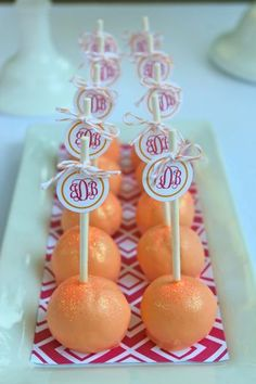 Hostess with the Mostess® - Pink and Orange Monogram Party