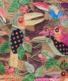 close up, Bad Hair Day by Martha A. Nordstrand (Arizona).  2014 Road to California.  Photo by Quilt Inspiration.