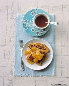 Orange Waffles Recipe