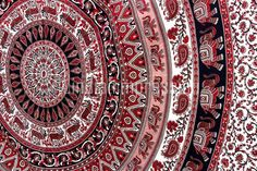 Indian Elephant Mandala Tapestry Wall Hanging Hippie Tapestries Ethnic Decor Art #Handmade #BedspreadBedsheetWallHanging