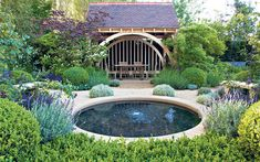 circular, defined pool