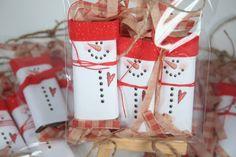 christmas crafts to sell at craft fairs   HandmadeBits4U: Snowmen Stocking Stuffers