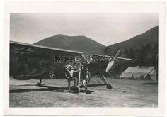 Vytina Feldflugplatz Griechenland . Fieseler Storch Fi 156