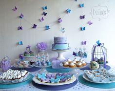 Bautismo y Cumple con Mariposas y Flores