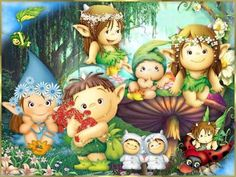 Illustrations, Book Illustration, Rainbow Rice, Fantasy Images, Cute Characters, Stories For Kids, Leprechaun, Goblin, Beautiful Dolls