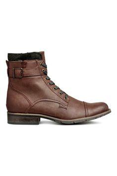 Ботинки - Темно-коричневый - Мужчины | H&M RU 1
