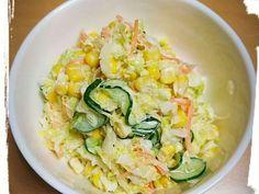 簡単!付け合わせに!コールスロー by もこやんやんぼー 【クックパッド】 簡単おいしいみんなのレシピが315万品 Pasta Salad, Ethnic Recipes, Food, Crab Pasta Salad, Essen, Meals, Yemek, Eten