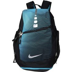 4c111076ba Nike Hoops Elite Max Air Backpack GR (Black Omega Blue Metallic.