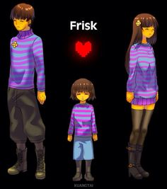 The way I think of Frisk is the adult female version.