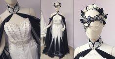 ~Masquerade Themed Bridal Gown~ by Lillyxandra.deviantart.com on @DeviantArt