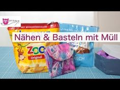 3 Projekte mit Müll / Milka-Tasche nähen / Tetrapack Portemonnaie – DIY Eule - YouTube
