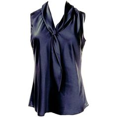 Womens Slimming Metallic Tie Collar Sleeveless Blouse Black ($9.59) ❤ liked on Polyvore featuring tops, blouses, black, collar blouse, sleeveless blouse, sleeveless tie blouse, tie top and slimming tops