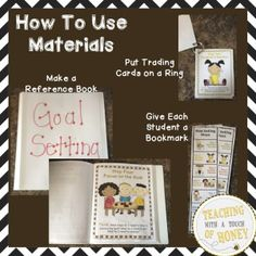 """Get your FREE copy of """"7 Steps of Goal Setting: Posters, Trading Cards, and Bookmarks"""" with subscription to Teaching With a Touch of Honey newsletter."""