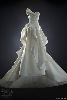 rubin singer 2014 bridal sara strapless wedding dress