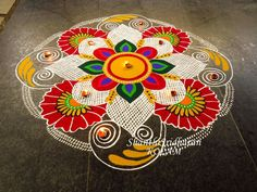 India with Colors of Love ❤️ Indian Rangoli Designs, Simple Rangoli Designs Images, Rangoli Designs Latest, Rangoli Designs Flower, Latest Rangoli, Rangoli Patterns, Colorful Rangoli Designs, Rangoli Ideas, Beautiful Rangoli Designs