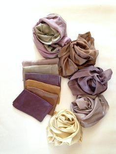 natural dyeing, silk