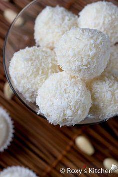 Homemade Raffaello Almond Coconut Candies | Roxy's Kitchen