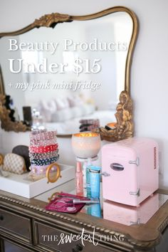 Here are some of my favorite skincare products that are good & affordable. In case you're looking for a new product to add to your skincare routine on a budget. From Hyaluronic Acid Serum to Vitamin C, and even a self-tanner. Everything you need for smooth (and summer-ready!) skin. + my pink mini-fridge, to keep them all cool | The Sweetest Thing Blog by Emily Ann Gemma Best Skincare Products, Beauty Products, Pure Products, Beauty Tips For Skin, Best Beauty Tips, Pink Mini Fridge, The Sweetest Thing Blog, Emily Ann, Beauty Tutorials
