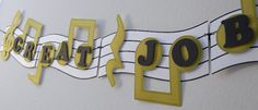 Musical Note Banner Birthday Party Decoration  by bcpaperdesigns, $35.00