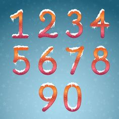 Winter dream numbers with snow caps vector 03 - https://www.welovesolo.com/winter-dream-numbers-with-snow-caps-vector-03/?utm_source=PN&utm_medium=welovesolo59%40gmail.com&utm_campaign=SNAP%2Bfrom%2BWeLoveSoLo