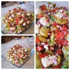 GRIECHISCHER SALAT Rezept: http://babsiskitchen-foodblog.blogspot.com/2018/06/griechischer-salat.html