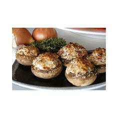 Ginger Wasabi Stuffed Mushrooms:  Ingredients: 2 lbs. mushrooms, sized for stuffing 3 cups Rye bread 2 Tbsp. Olive Oil 1/2 cup Robert Rothschild Ginger Wasabi Sauce 3 Tbsp. chives 4 large eggs, beaten