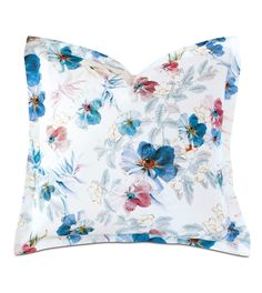 Adare Manor Floral Euro Sham - Celerie Kemble by Eastern Accents