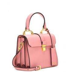 Every discerning dresser requires Miu Miu's feminine pink leather shoulder bag as part of their style inventory. Description from lyst.com. I searched for this on bing.com/images